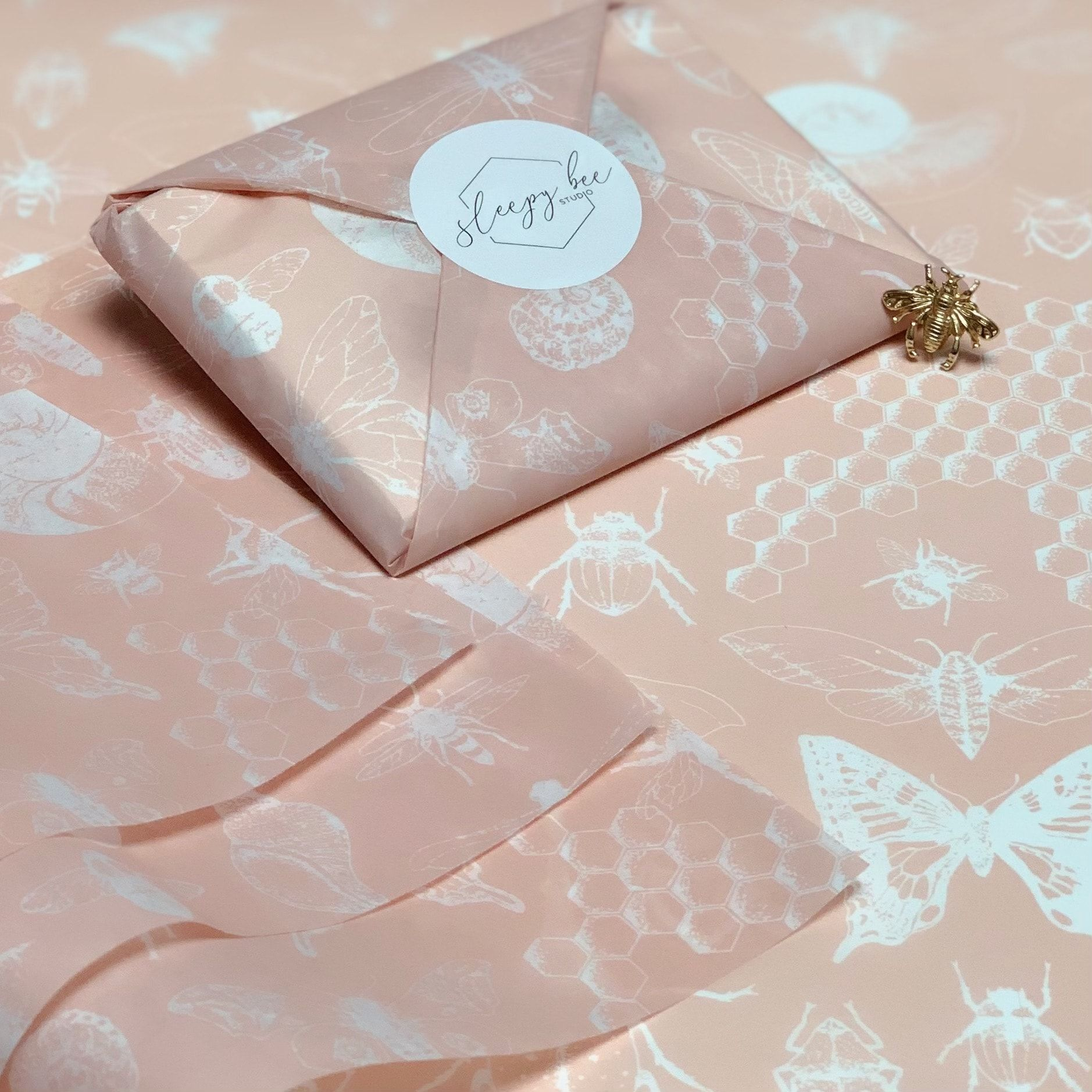 Sleepy Bee Studio: A Tale of Four Bespoke Tissue Paper Designs
