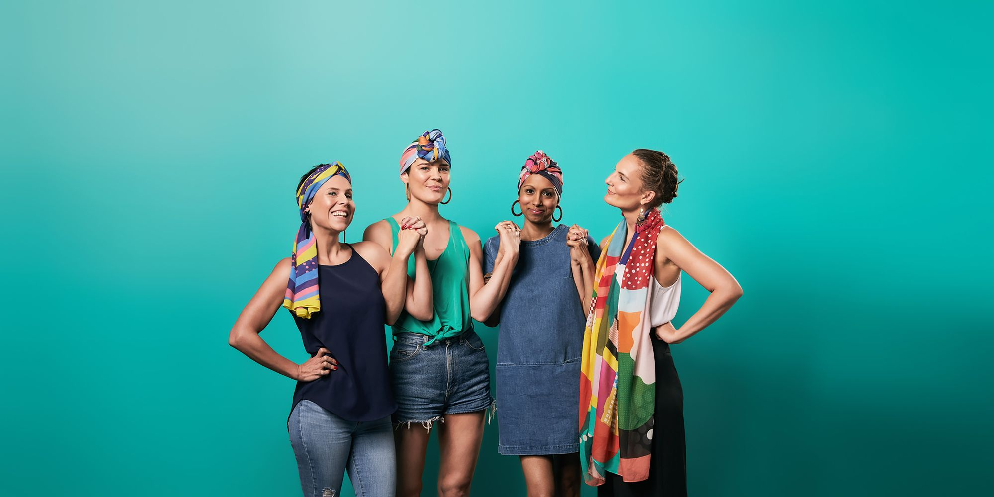 Sustainable Art-inspired Scarves for Cancer Warriors with Bravery Co