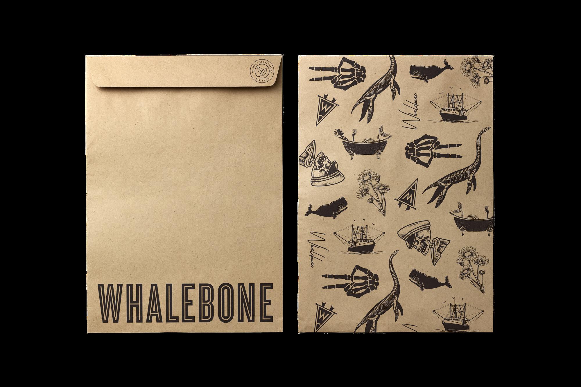 Whalebone's custom noissue Kraft Mailers