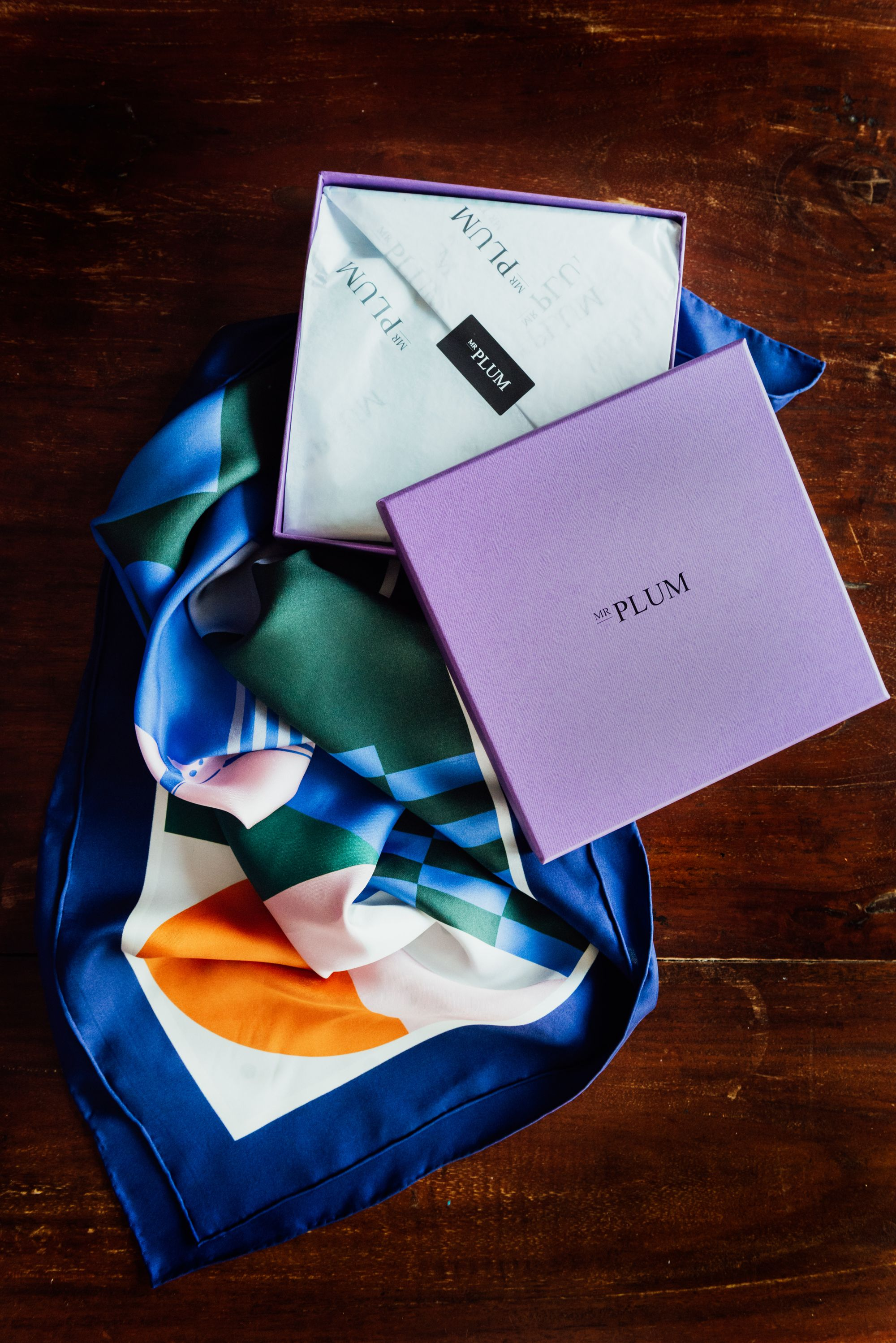 Mr. Plum's Thoughtful Silk Scarves: Wearable Masterpieces