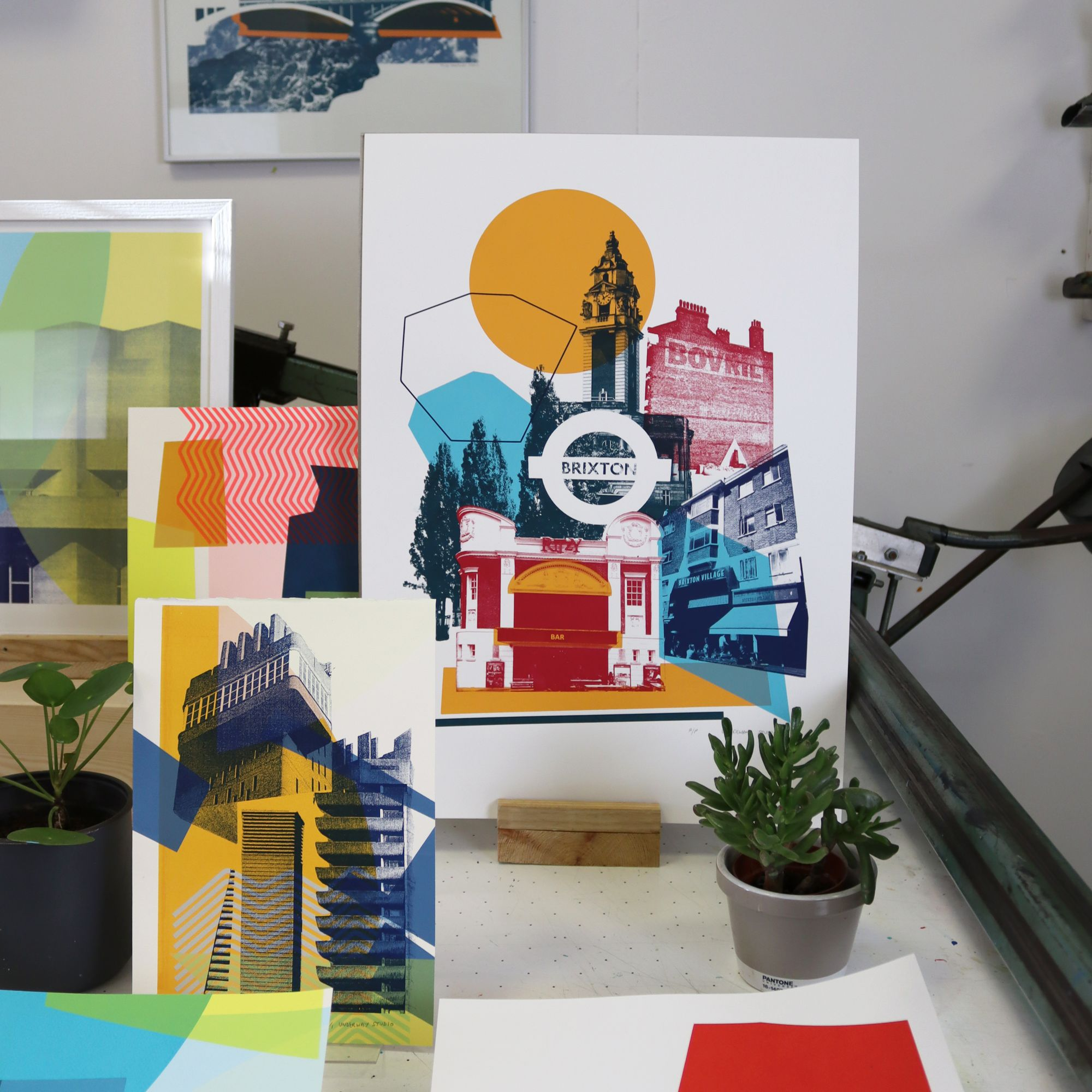 Underway Studio: Illustrating Architecture in Collaborative Silk-Screen Prints