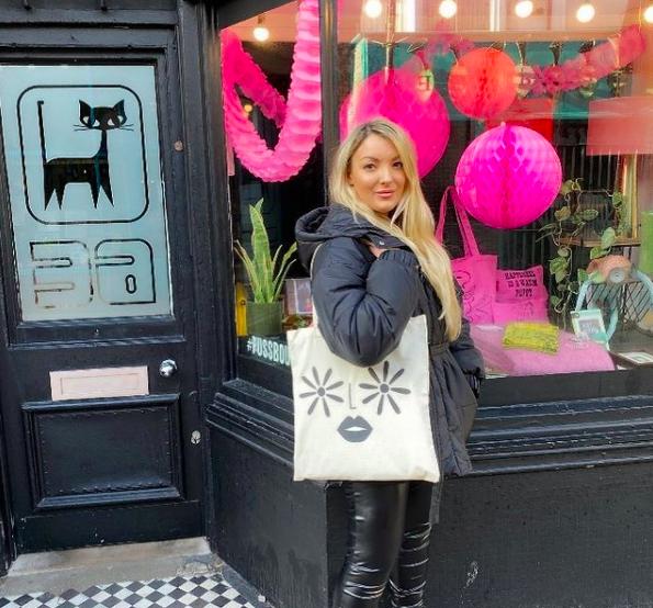 custom tote bag on a woman