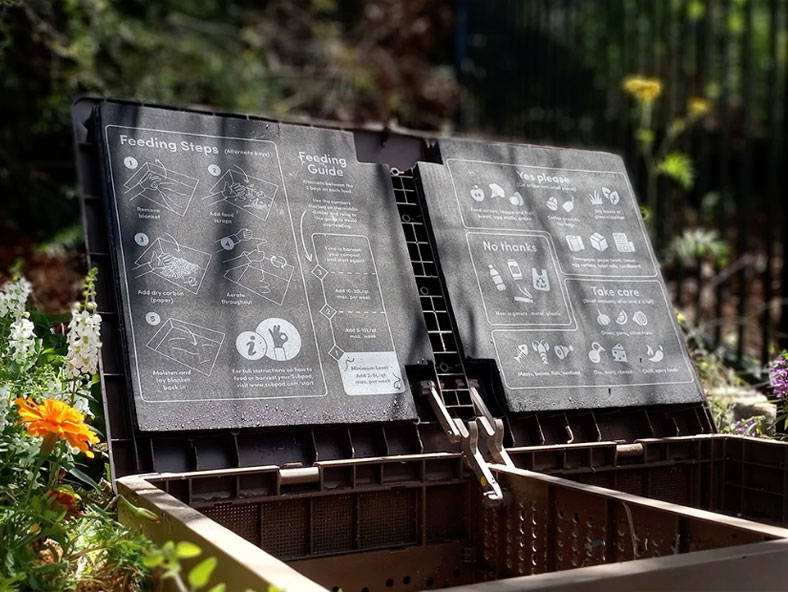 Outdoor composting system by Subpod
