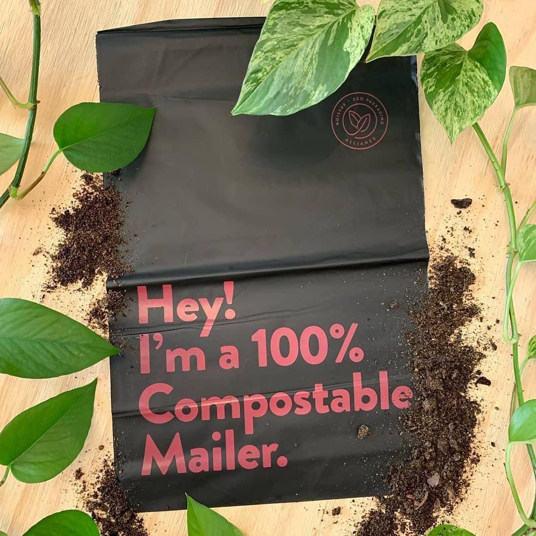 A compostable mailer