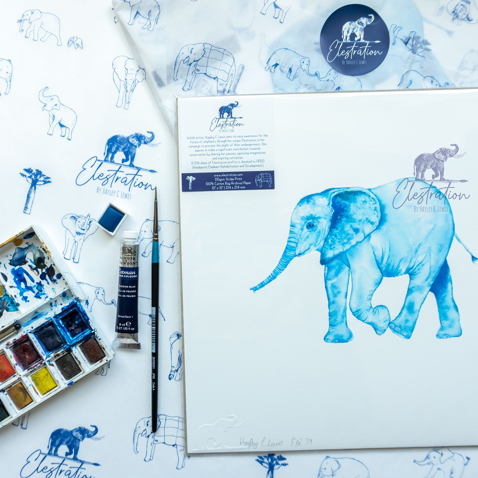 Elestration: Protecting Elephants Through Unique Art
